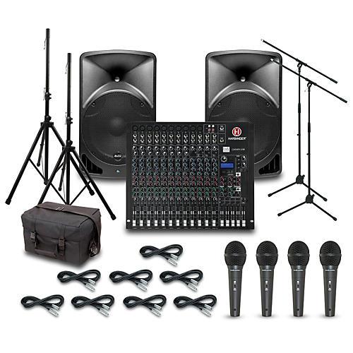 Alto TX15USB with Harbinger L2404FX-USB Mixer PA System-thumbnail