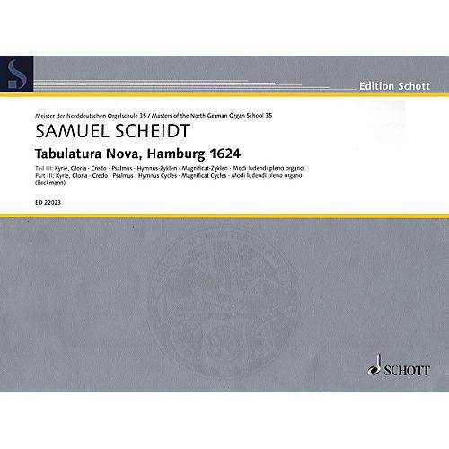 Schott Tabulatura Nova, Hamburg 1624 - Part 3 Organ Collection Series Softcover-thumbnail