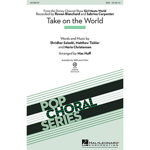Hal Leonard Take on the World SAB arranged by Mac Huff