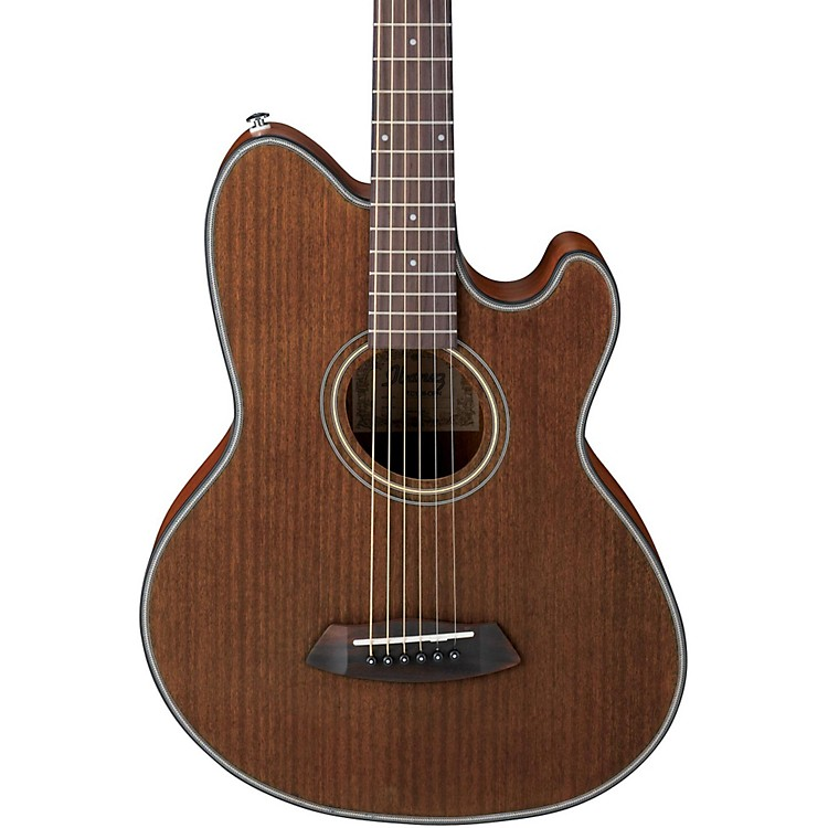 Ibanez Talman Double Cutaway Acoustic-Electric Guitar Open Pore Natural