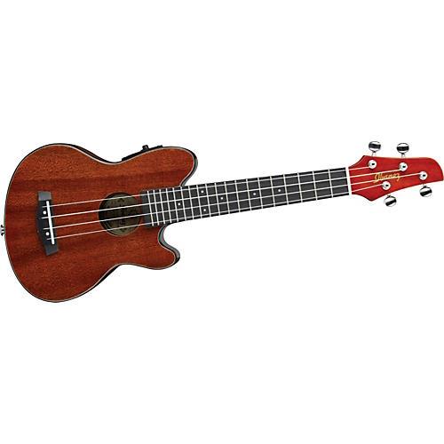 ibanez talman style concert size acoustic electric ukulele musician 39 s friend. Black Bedroom Furniture Sets. Home Design Ideas