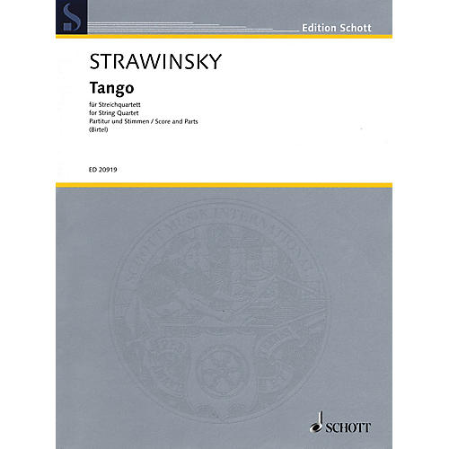 Schott Tango String Ensemble Series Softcover Composed by Igor Stravinsky Arranged by Wolfgang Birtel-thumbnail