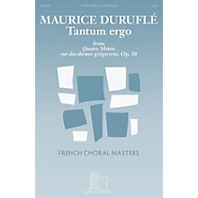 Durand Tantum Ergo SATB a cappella Composed by Maurice Duruflé