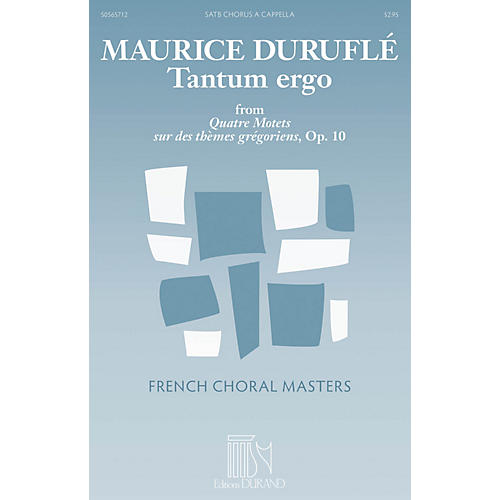 Durand Tantum Ergo SATB a cappella Composed by Maurice Duruflé-thumbnail