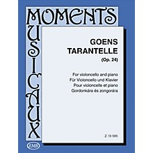 Editio Musica Budapest Tarantelle, Op. 24 (Cello and Piano) EMB Series Composed by Daniel van Goens