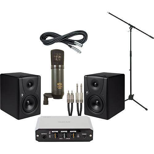 Mackie Tascam US-100 and Mackie MR5 Recording Package