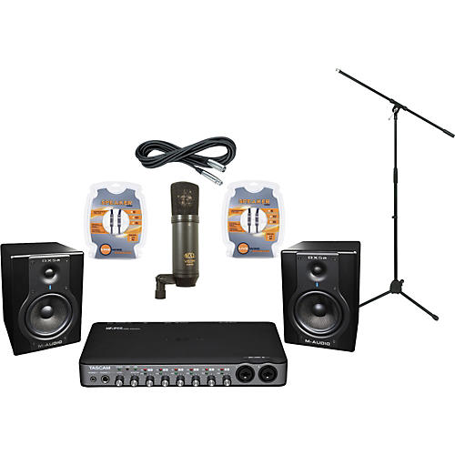 M-Audio Tascam US-800 and M-Audio BX5a Recording Package