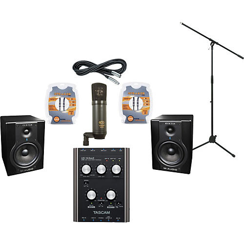 M-Audio Tascam US144MKII and M-Audio BX5a Recording Package-thumbnail