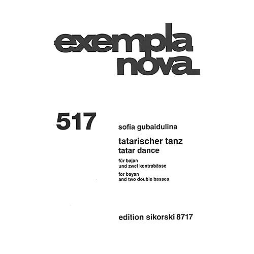 Sikorski Tatar Dance (for Bayan and Two Double Basses) Ensemble Series Softcover Composed by Sofia Gubaidulina-thumbnail