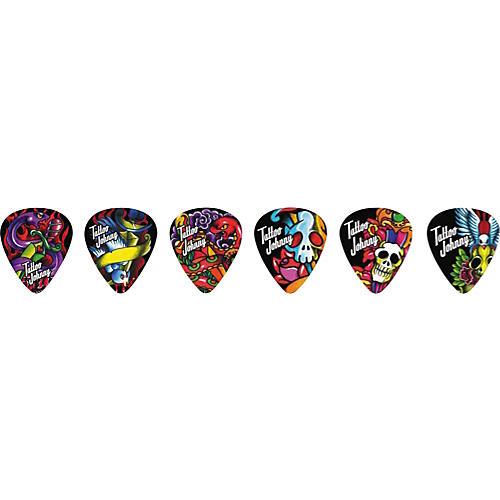 Clayton Tattoo Johnny Snakes and Daggers Guitar Picks - 1 Dozen Medium
