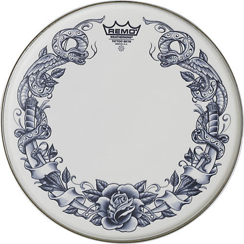 Remo Tattoo Skyn Drumhead 13 in. Dragonrose