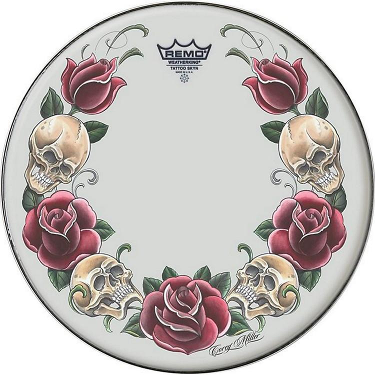 RemoTattoo Skyn Drumhead13 inchRock & Roses Graphic