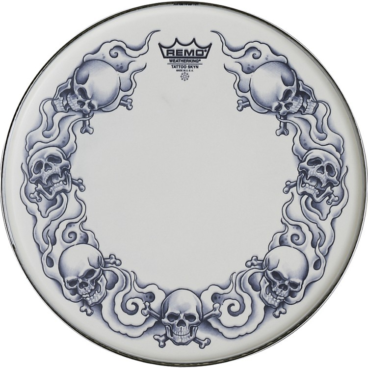 RemoTattoo Skyn Drumhead14 inchRock & Roses Graphic