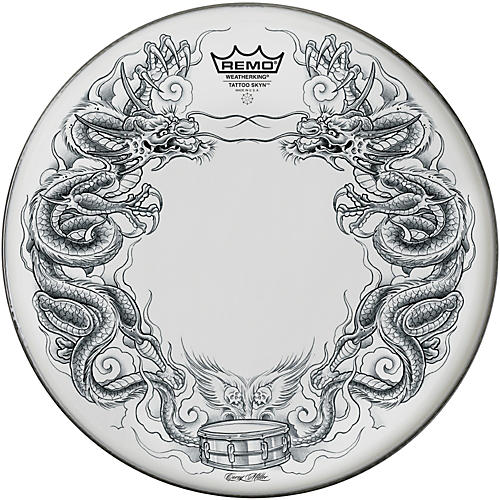 Remo Tattoo Skyn Drumhead 14 in. Dragon Skyn Graphic