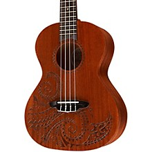 Luna Guitars Tattoo Tenor Ukulele Natural Tenor