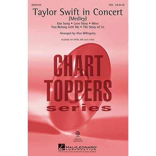 Hal Leonard Taylor Swift in Concert (Medley) ShowTrax CD by Taylor Swift Arranged by Alan Billingsley-thumbnail