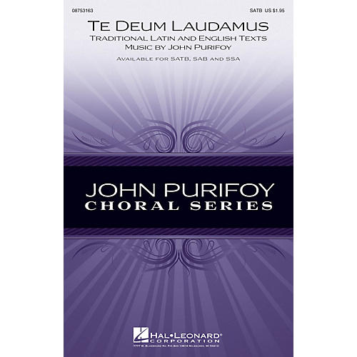 Hal Leonard Te Deum Laudamus SATB composed by John Purifoy-thumbnail