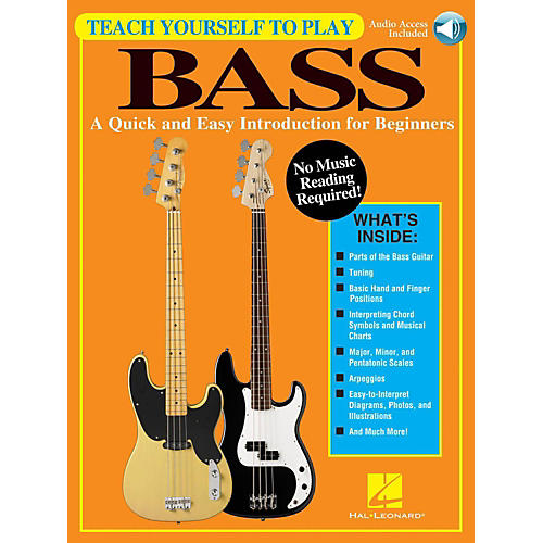 Hal Leonard Teach Yourself To Play Bass - A Quick & Easy Introduction For Beginners (Book/Online Audio)-thumbnail