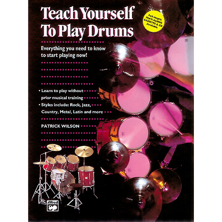 Alfred Teach Yourself to Play Drums Book with CD
