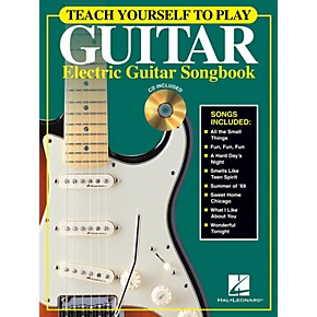 hal leonard teach yourself to play guitar electric guitar songbook guitar book series. Black Bedroom Furniture Sets. Home Design Ideas