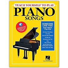 """Hal Leonard Teach Yourself to Play """"Someone Like You"""" & 9 More Pop Hits on Piano Book/ Video/Audio"""