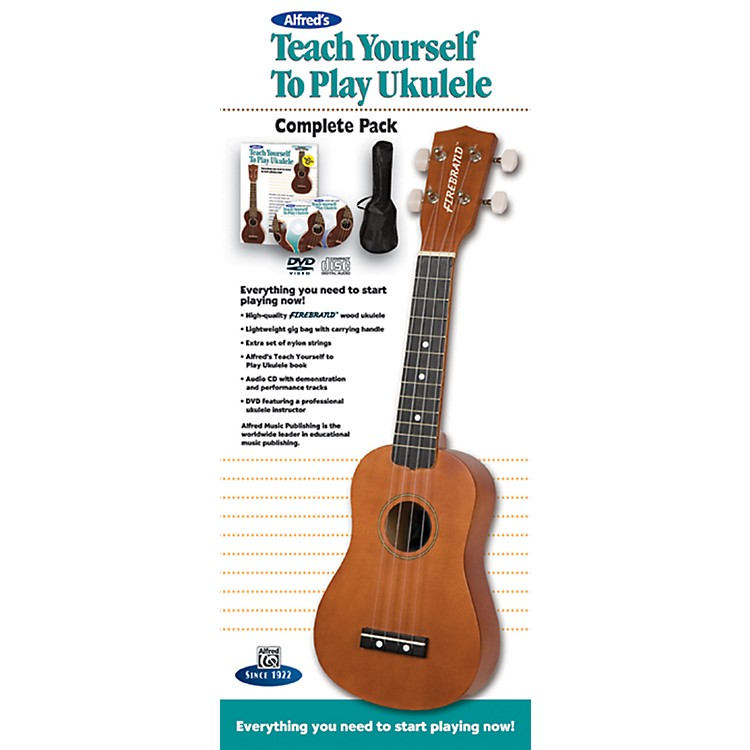 AlfredTeach Yourself to Play Ukulele Complete Starter PackNatural