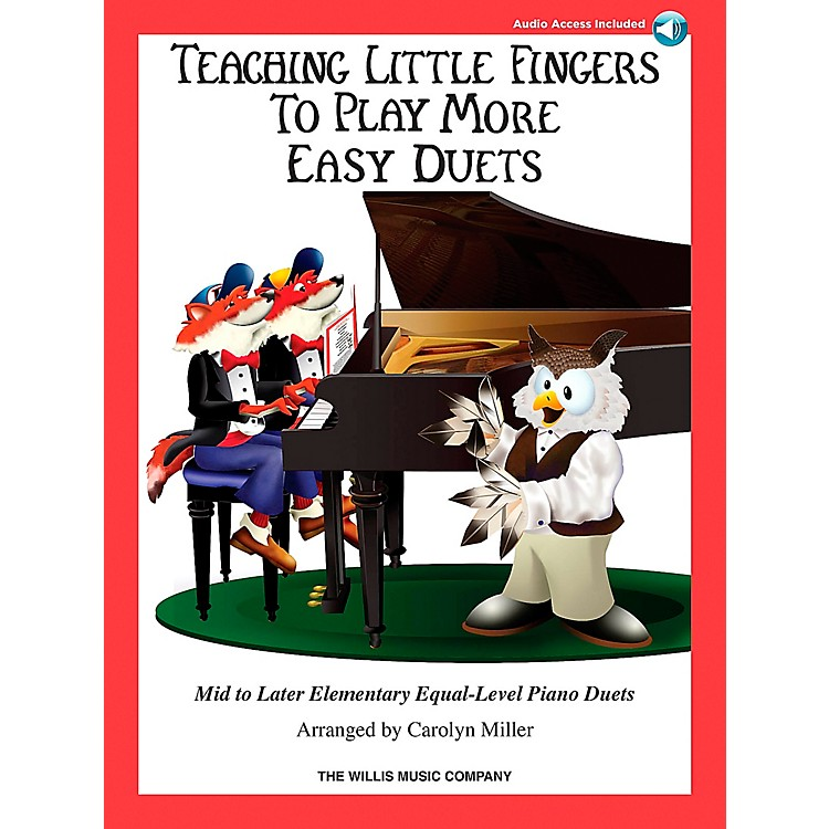 Hal LeonardTeaching Little Fingers To Play - More Easy Duets Book/CD 1 Piano 4 Hands