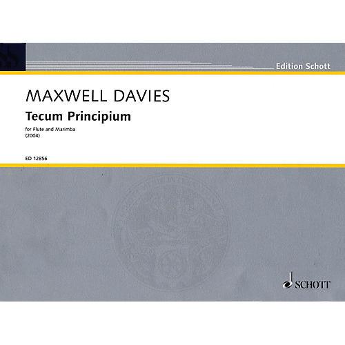 Schott Tecum Principium (2004) Misc Series Composed by Peter Maxwell Davies-thumbnail