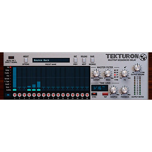 D16 Group Tekturon Multitap Sequenced Delay Plug-in-thumbnail