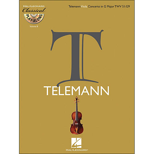 Hal Leonard Telemann: Viola Concerto In G Major, Twv 51:G9 Classical Play-Along Book/CD Vol.8-thumbnail