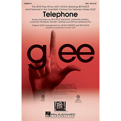 Hal Leonard Telephone (featured in Glee) ShowTrax CD by Glee Cast Arranged by Adam Anders