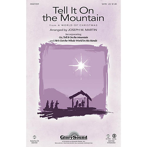 Shawnee Press Tell It on the Mountain (from A World of Christmas) SATB arranged by Joseph M. Martin-thumbnail