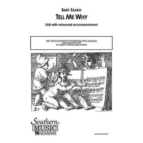 Hal Leonard Tell Me Why (Choral Music/Octavo Secular Sab) SAB Composed by Szabo, Burt-thumbnail