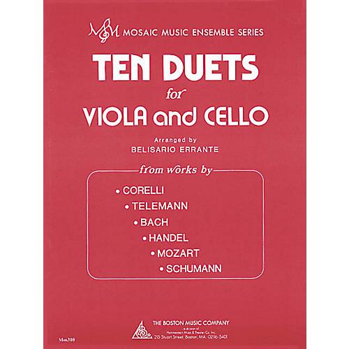 Boston Music Ten Duets for Viola and Cello (Mosaic Music Ensemble Series) Music Sales America Series-thumbnail