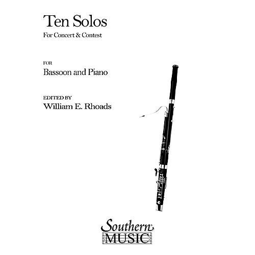 Southern Ten Solos for Concert and Contest (Bassoon) Southern Music Series Arranged by William Rhoads-thumbnail