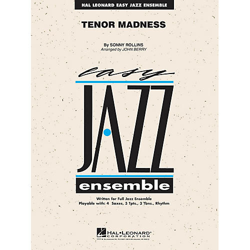 Hal Leonard Tenor Madness Jazz Band Level 2 by Sonny Rollins Arranged by John Berry-thumbnail