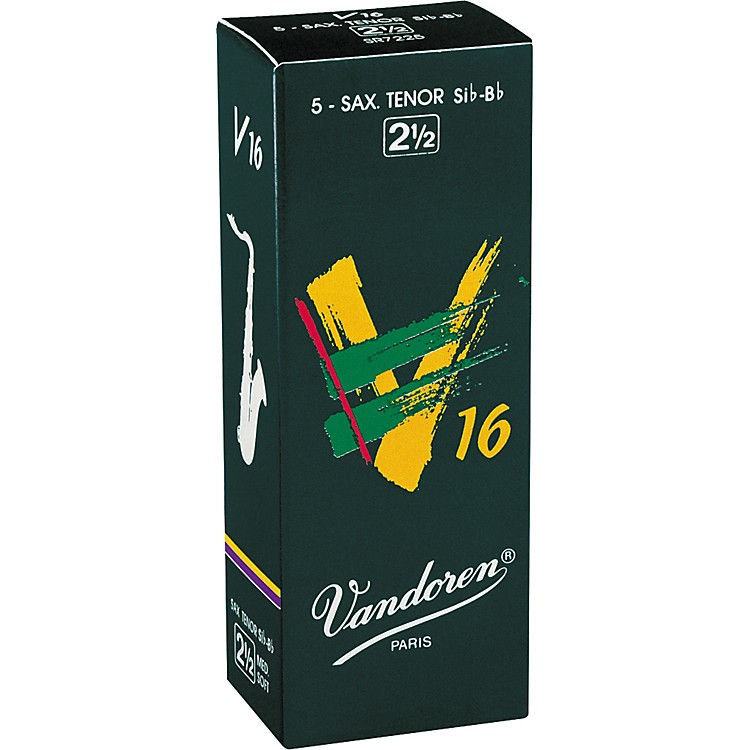 Vandoren Tenor Sax V16 Reeds Strength 2.5 Box of 5