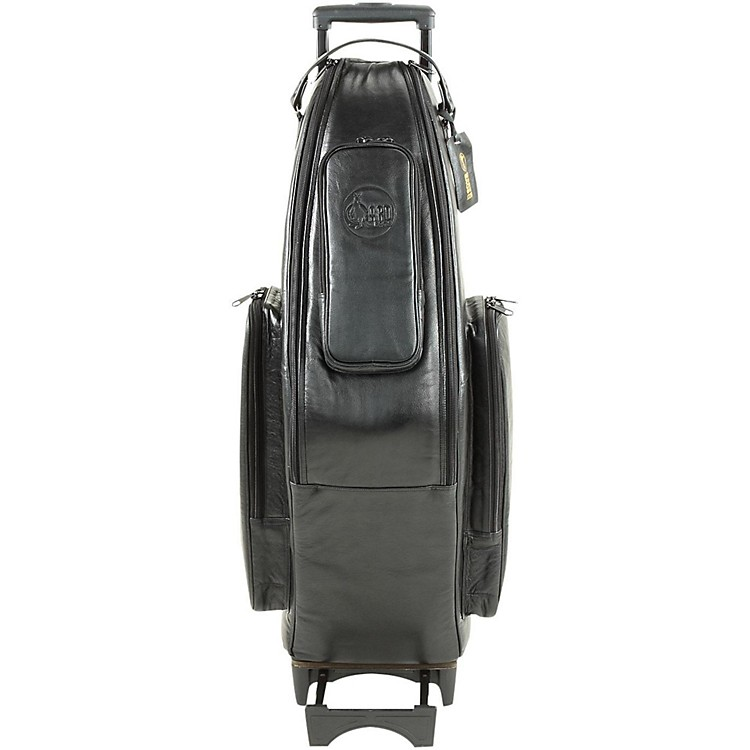 Gard Tenor Sax Wheelie Bag 105-WBFLK Black Ultra Leather