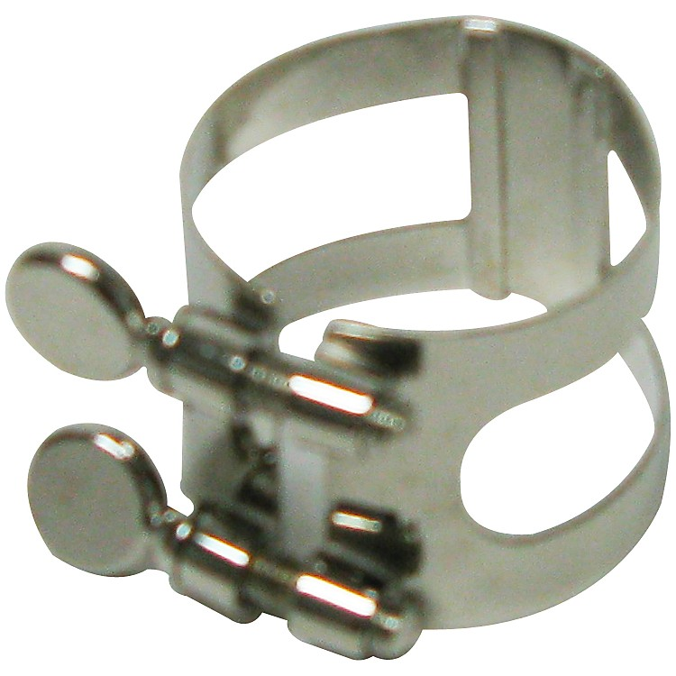 Bonade Tenor Saxophone Ligatures and Caps Nickel - Inverted - Ligature Only