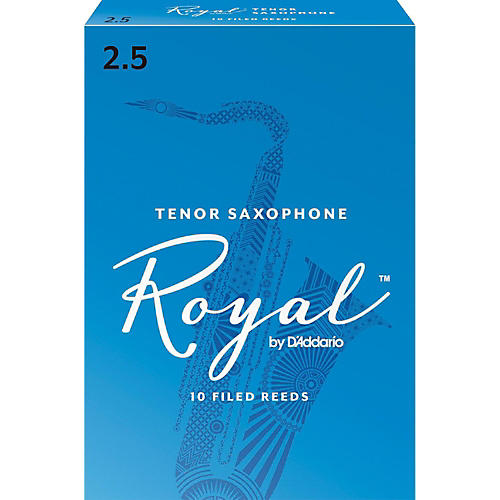 Rico Royal Tenor Saxophone Reeds, Box of 10 Strength 2.5