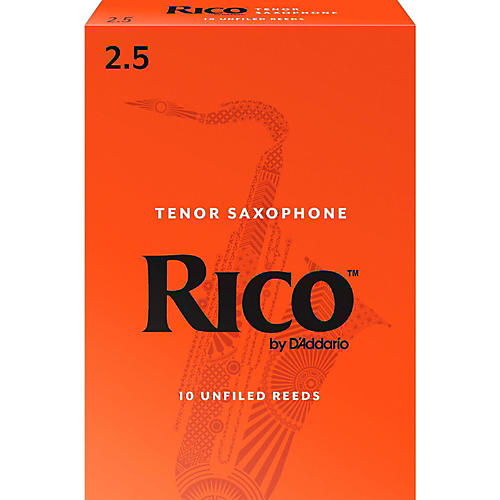 Rico Tenor Saxophone Reeds, Box of 10 Strength 2.5