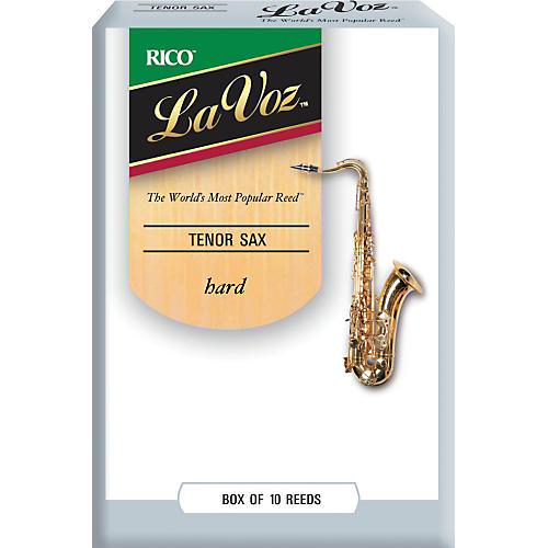 La Voz Tenor Saxophone Reeds Hard Box of 10