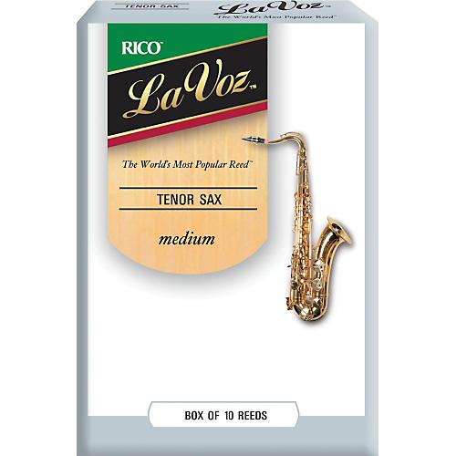 La Voz Tenor Saxophone Reeds Medium Box of 10