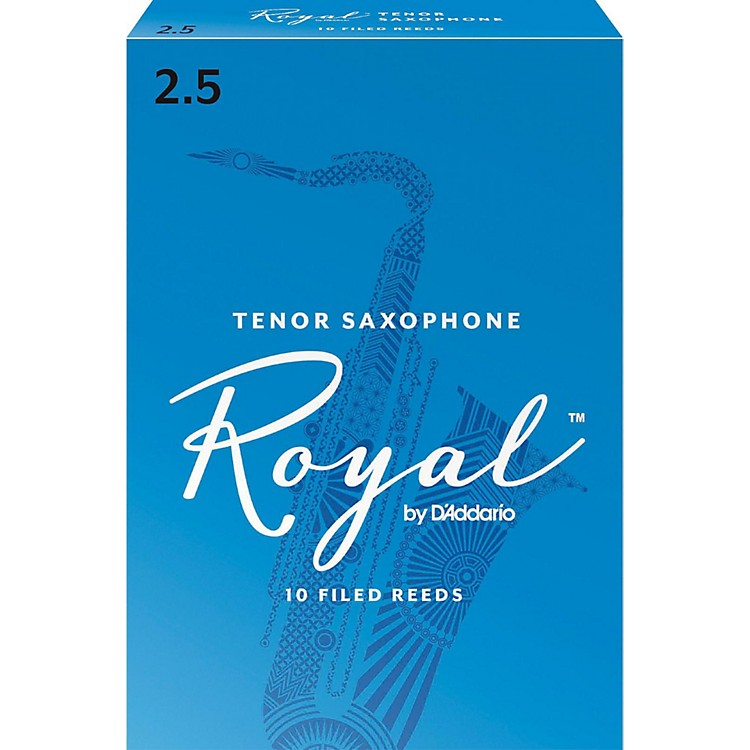 Rico Royal Tenor Saxophone Reeds Strength 2.5 Box of 10