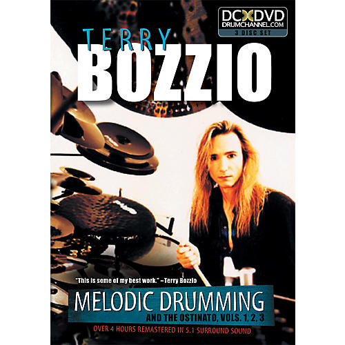 The Drum Channel Terry Bozzio - Melodic Drumming and the Ostinato Vol. 1, 2, 3   3 DVD SET