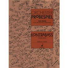 Schott Test Pieces for Orchestra - Double Bass Schott Series Composed by Various Arranged by Fritz Massmann