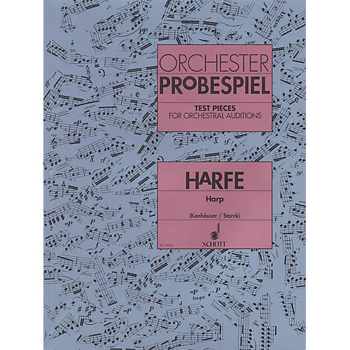 Schott Test Pieces for Orchestral Auditions Harp Schott Series Softcover-thumbnail