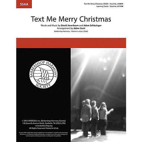 Barbershop Harmony Society Text Me Merry Christmas SSAA A Cappella arranged by Adam Scott-thumbnail
