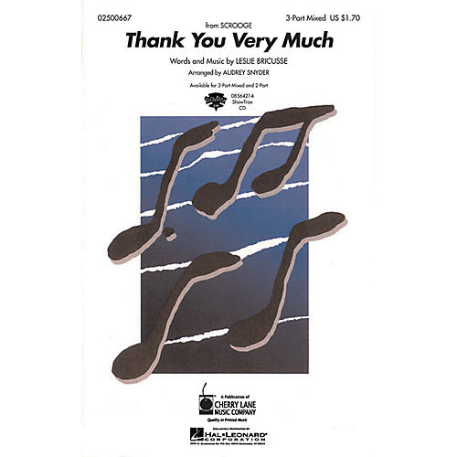 Hal Leonard Thank You Very Much ShowTrax CD Arranged by Audrey Snyder-thumbnail