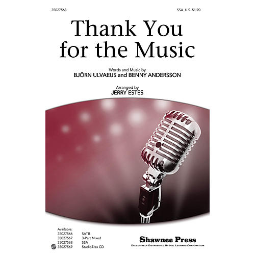 Shawnee Press Thank You for the Music SSA by ABBA arranged by Jerry Estes-thumbnail
